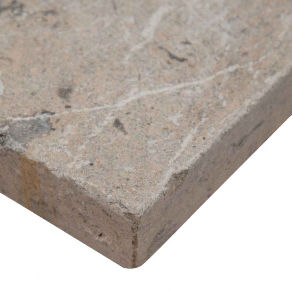 Silver Travertine Paver 8X8 Honed Unfilled Tumbled