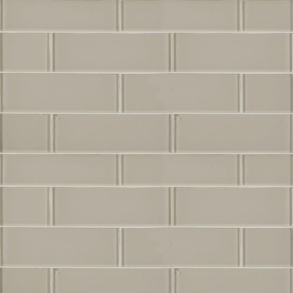 Snowcap White 3x9 Backsplash Gl