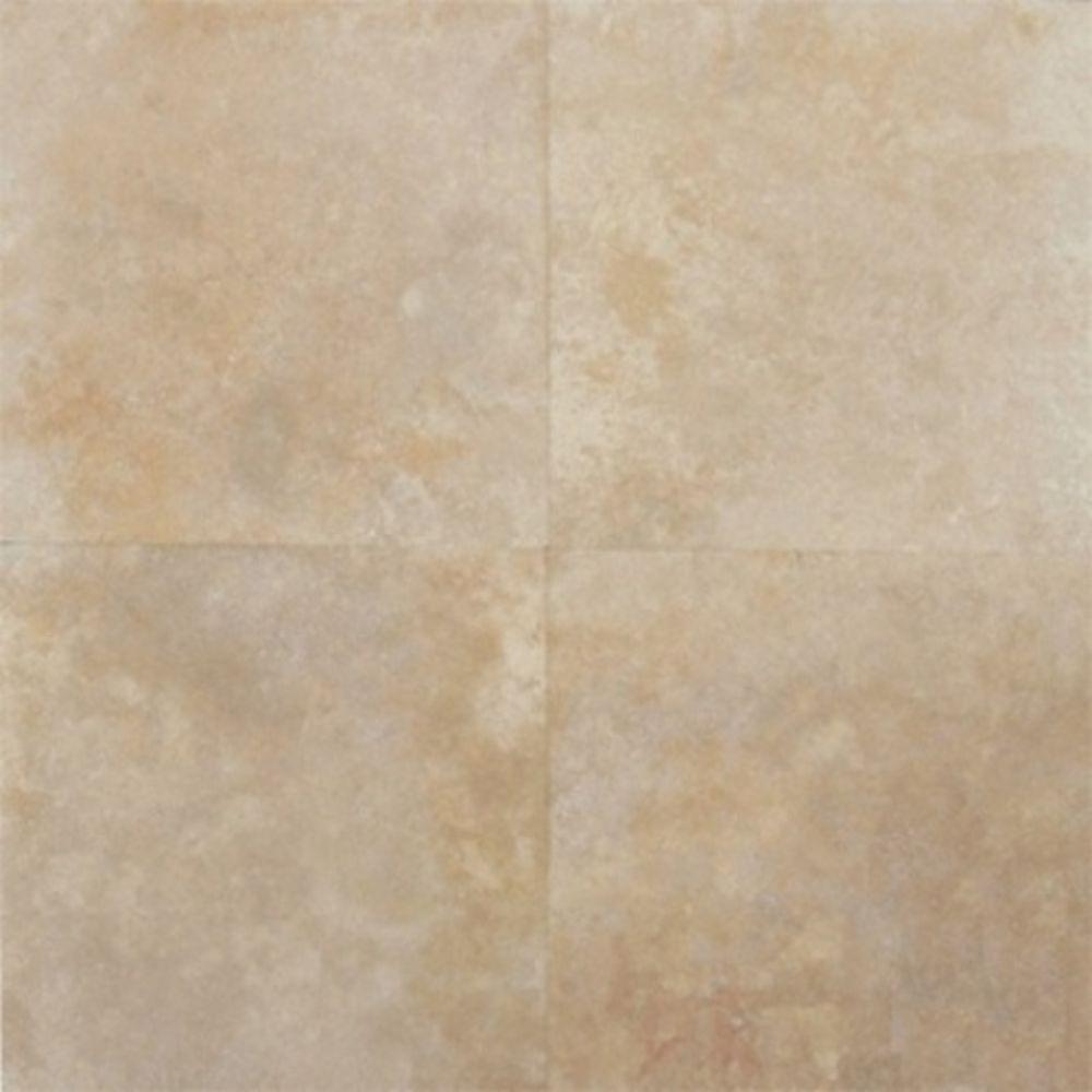 Tuscany Beige 12X12 Honed / Filled Travertine Tile