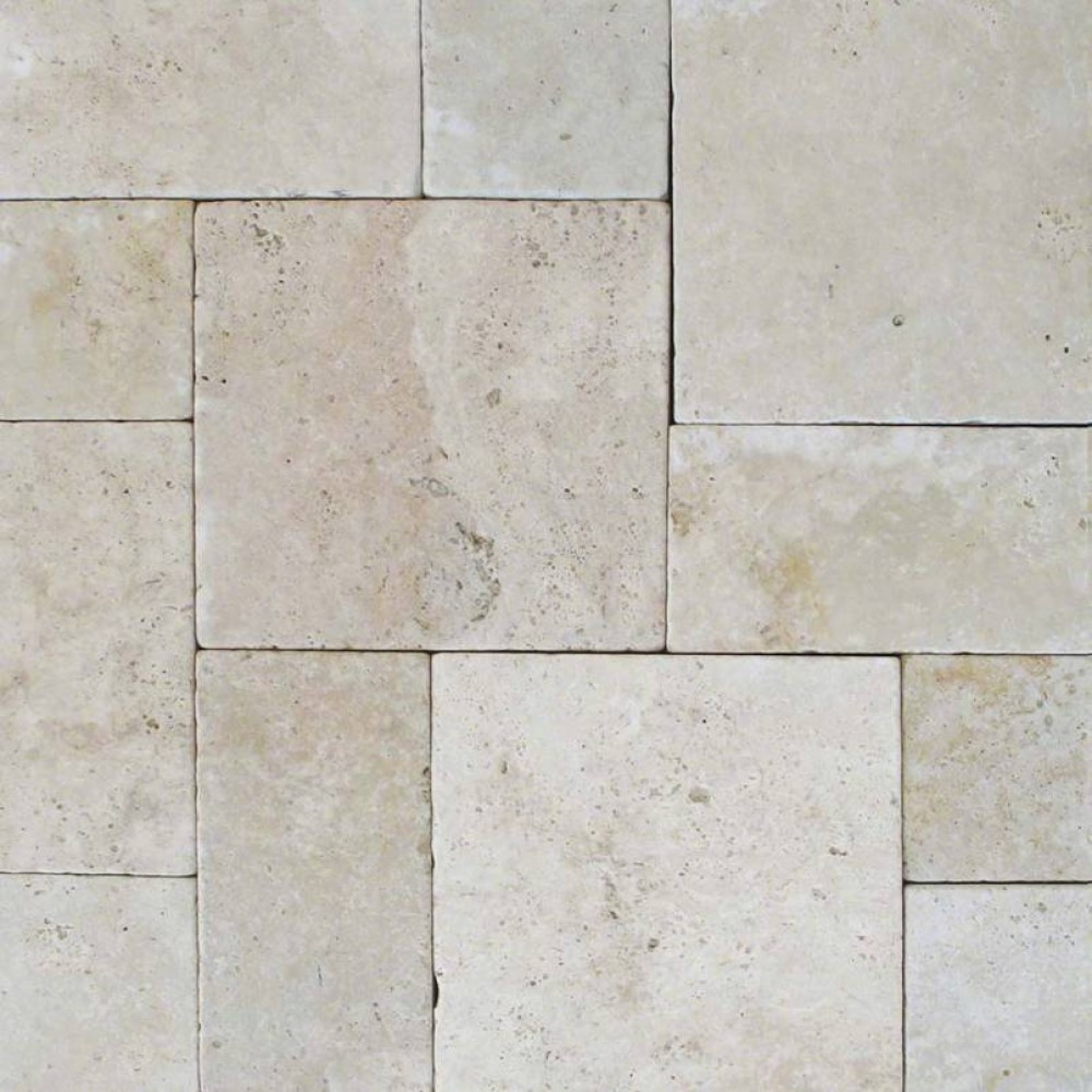 Tuscany Beige 6X12 Honed Unfilled Tumbled Paver