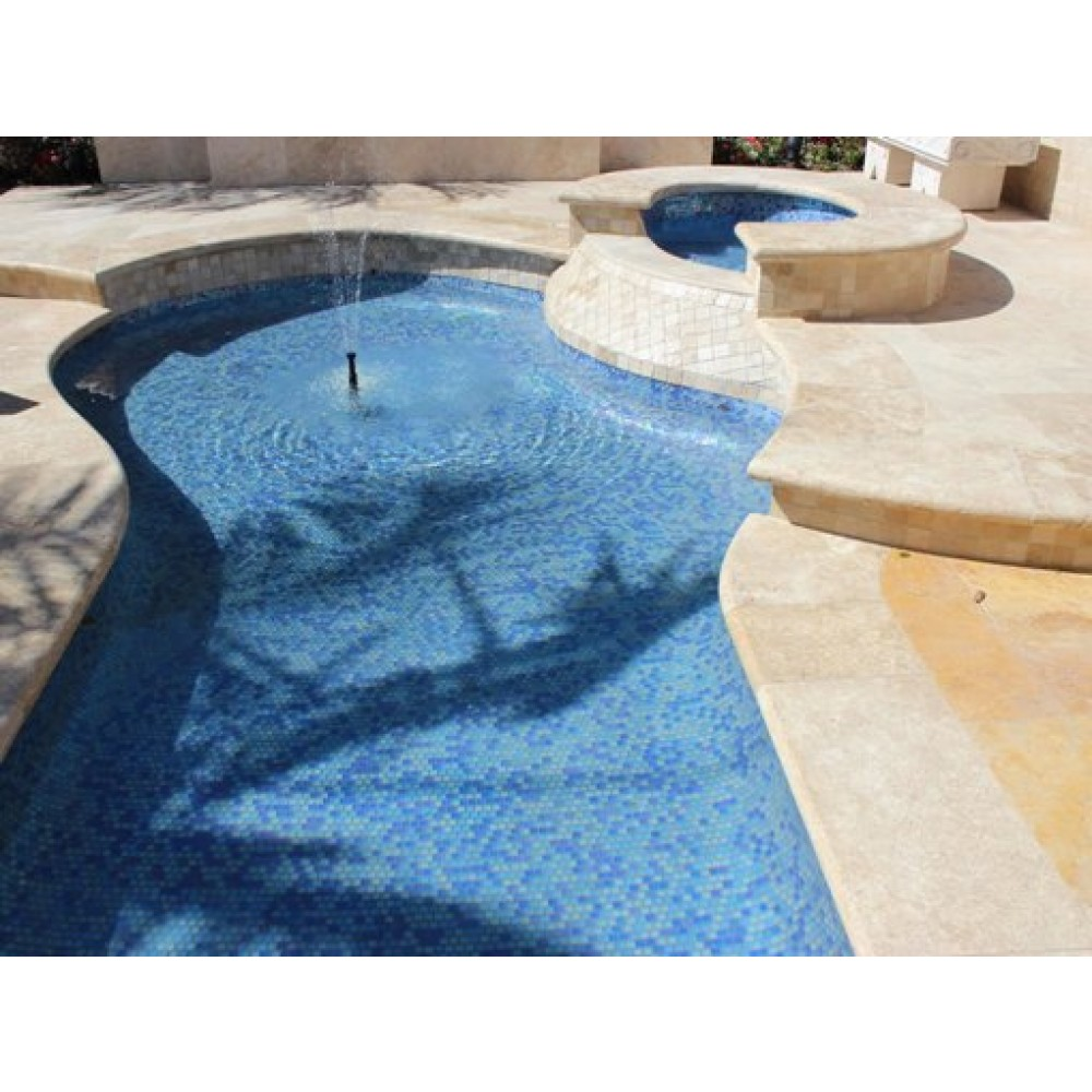 Tuscany Beige 12X24 Honed Unfilled One Long Side Bullnose Pool Coping