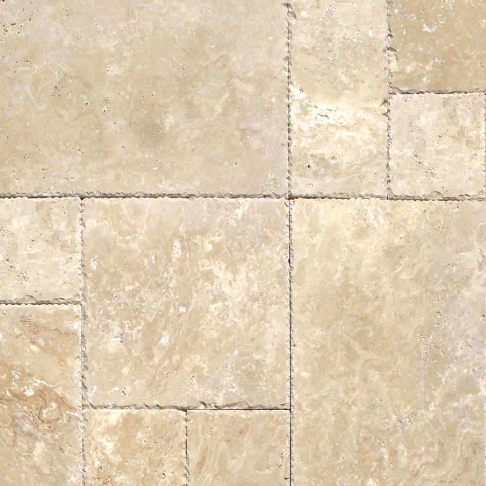 Tuscany Beige French Pattern 16 Sft Honed Unfilled Chipped Brushed