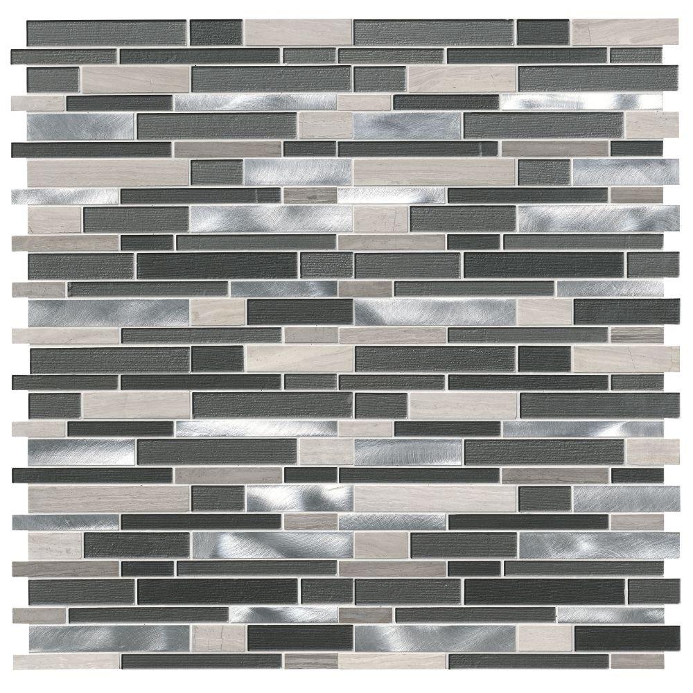 Urban Loft Interlocking Pattern 4mm Glass Wall Tile