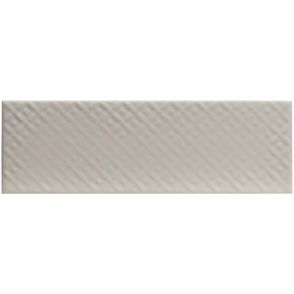 Urbano Crema 3D Mix 4x12 Glossy Ceramic Subway Tile
