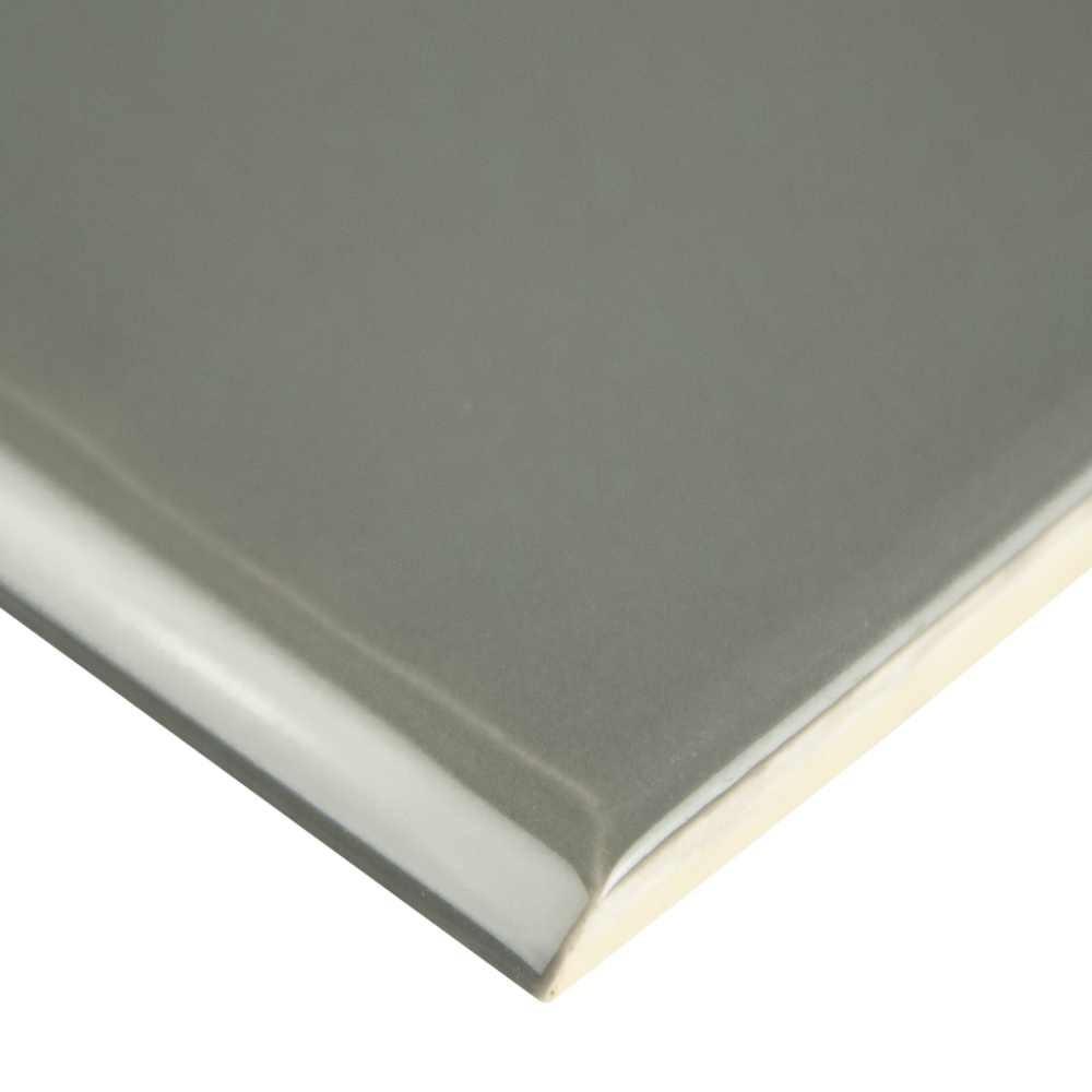 Urbano Graphite 4X12 Glossy Ceramic Bullnose Tile