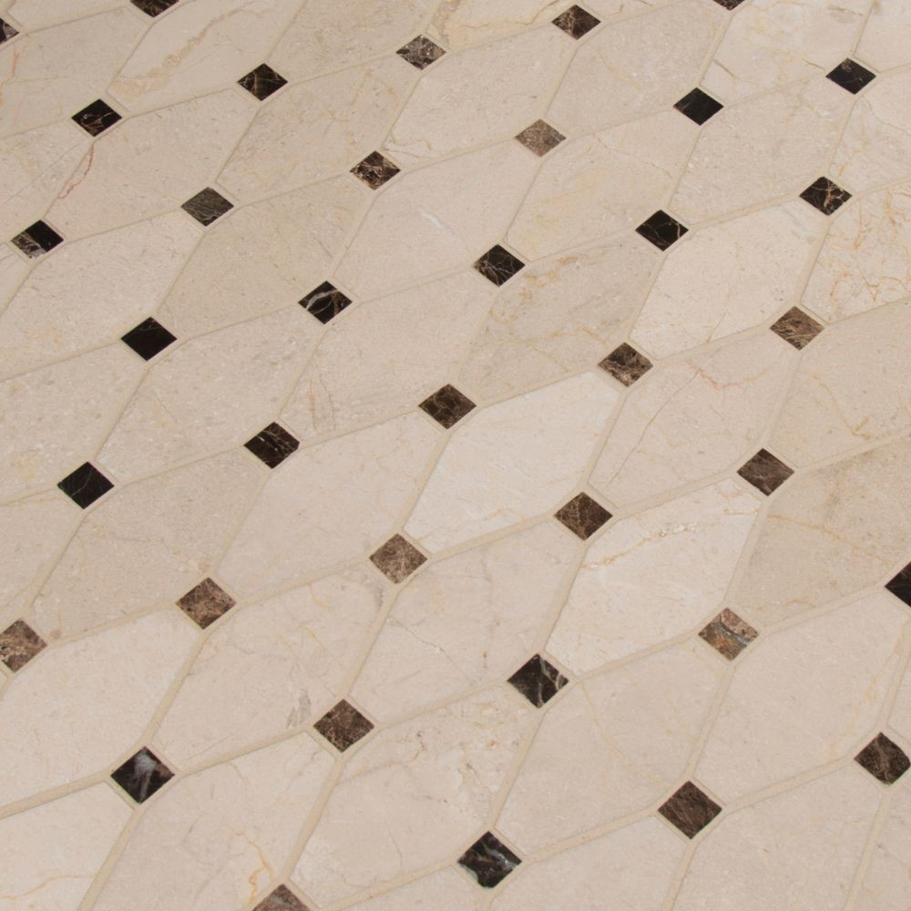 Valencia Blend Elongated Octagon Polished Mosaic