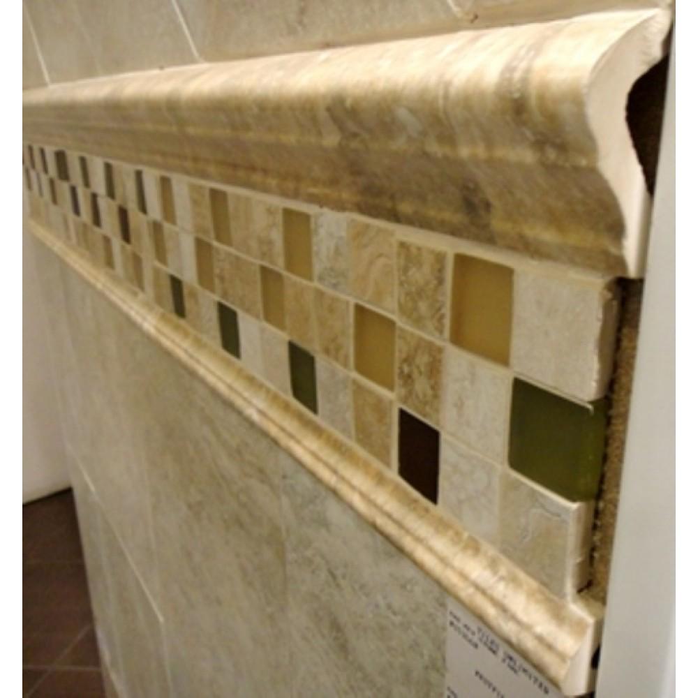Venice Noce V-cap 3x6.5 Glazed