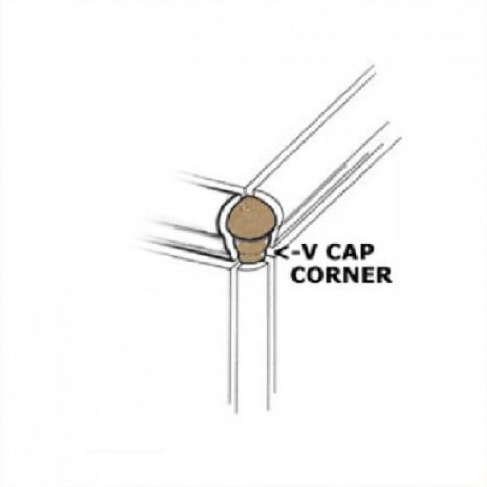 Travertino Beige 1X2.5 V-Cap Corner
