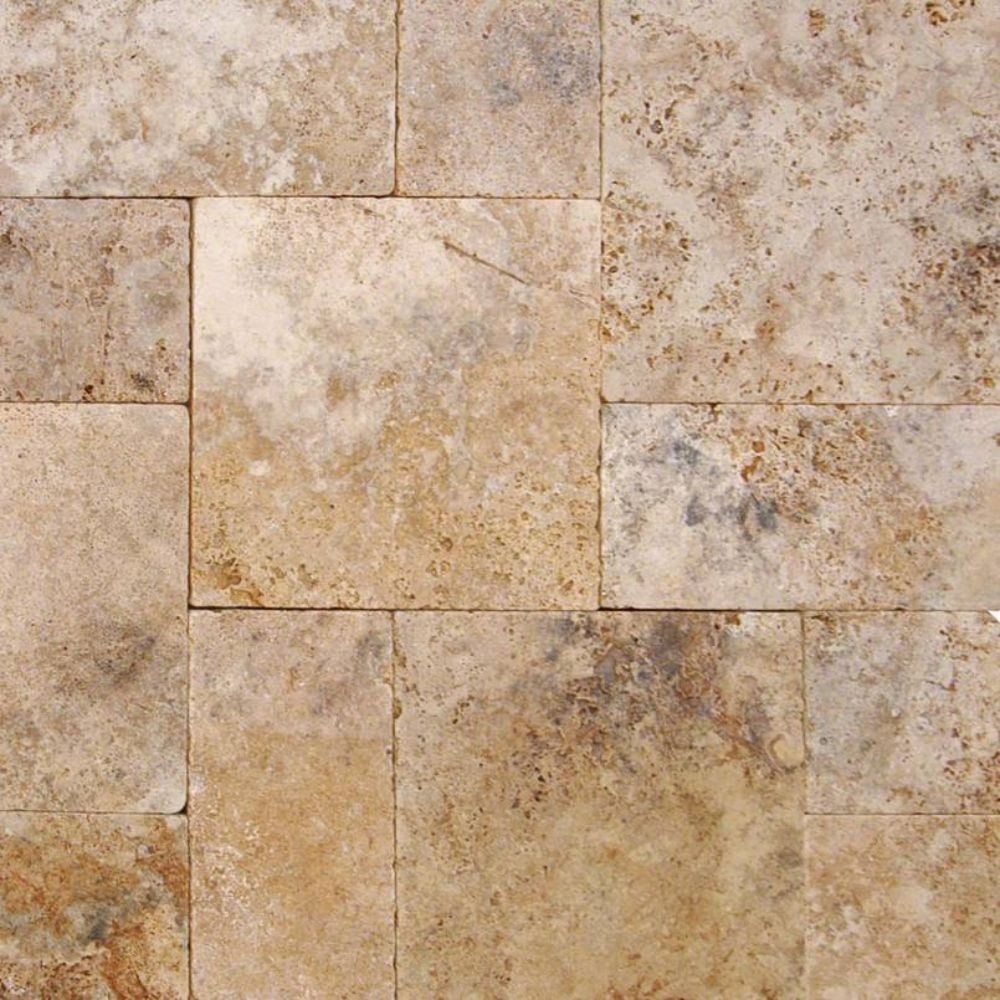 Walnut Rustico 16 Sft x 10 Kits Honed Unfilled Tumbled Paver