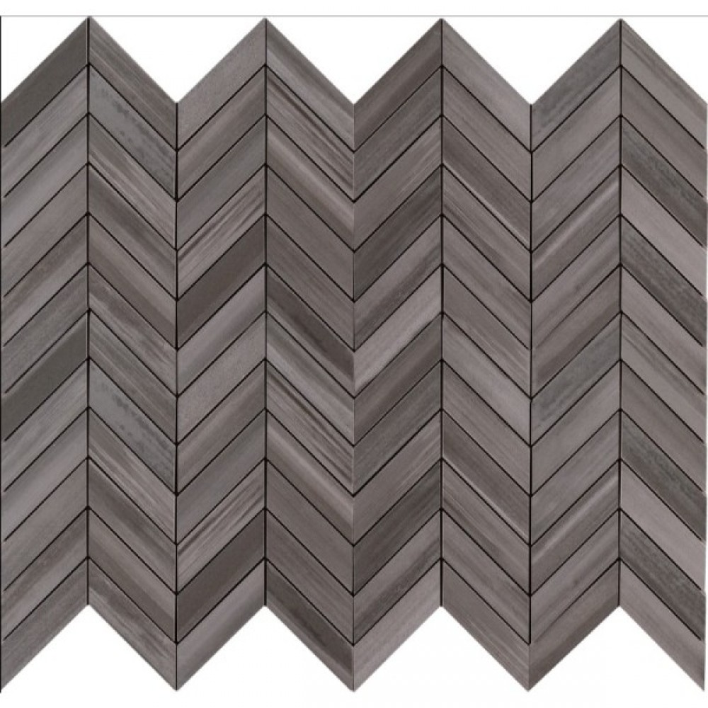 Watercolor Graphite 12x15 Chevron Mosaic