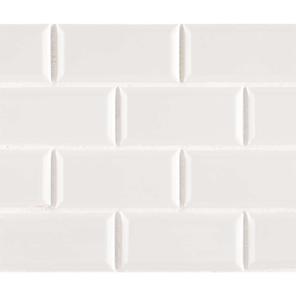 Buy White Hudson 2x4 Staggered Beveled Subway Tile