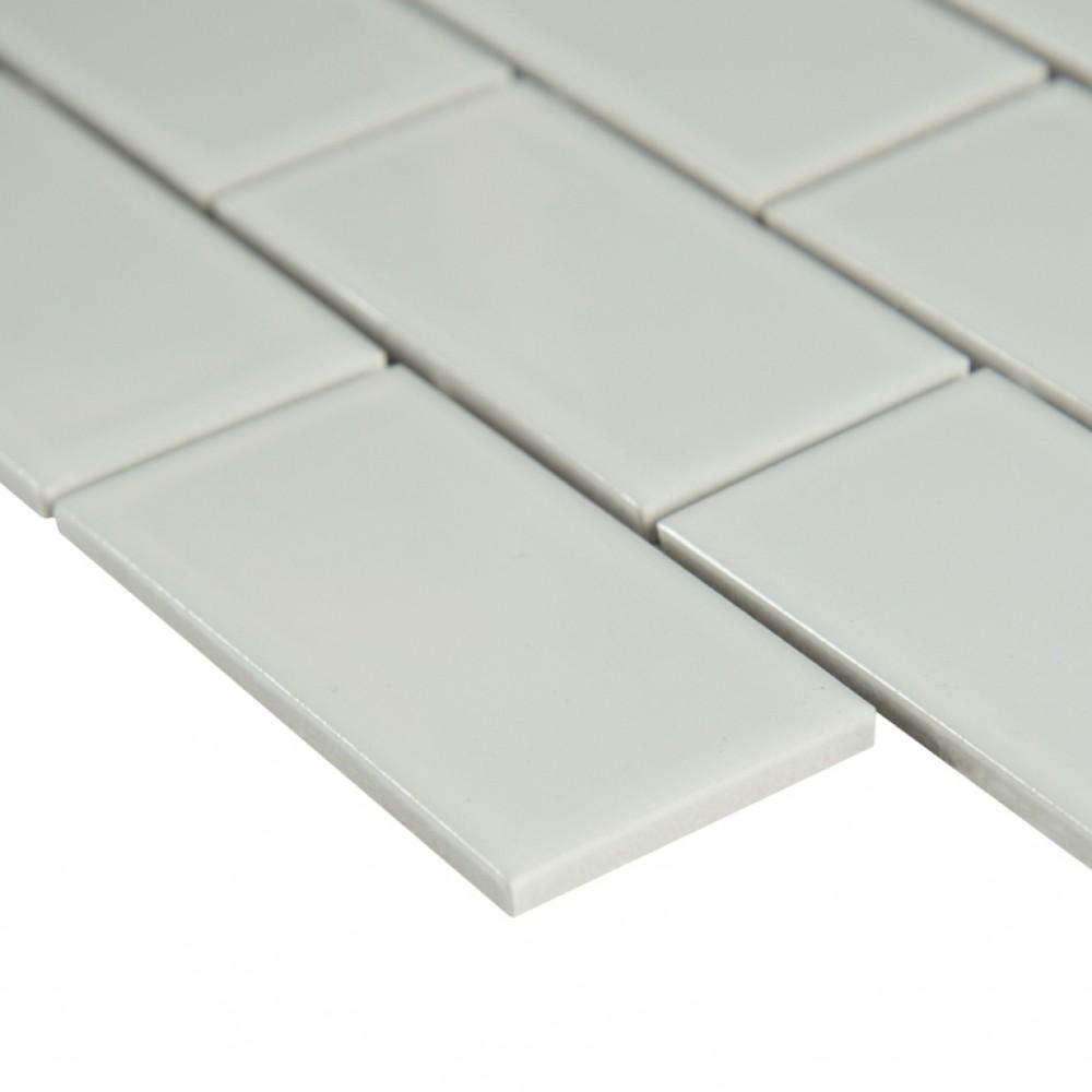 White Hudson 2x4 Staggered Subway Tile Tilesbay Com