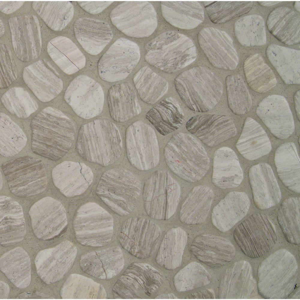 White Oak Pebbles 12X12 Tumbled