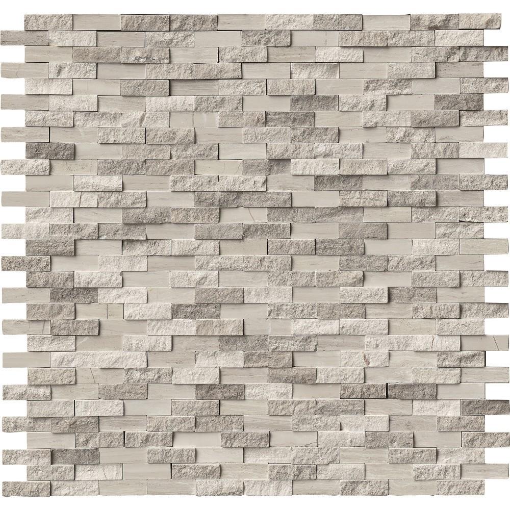 White Oak Splitface Interlocking Pattern Mosaic