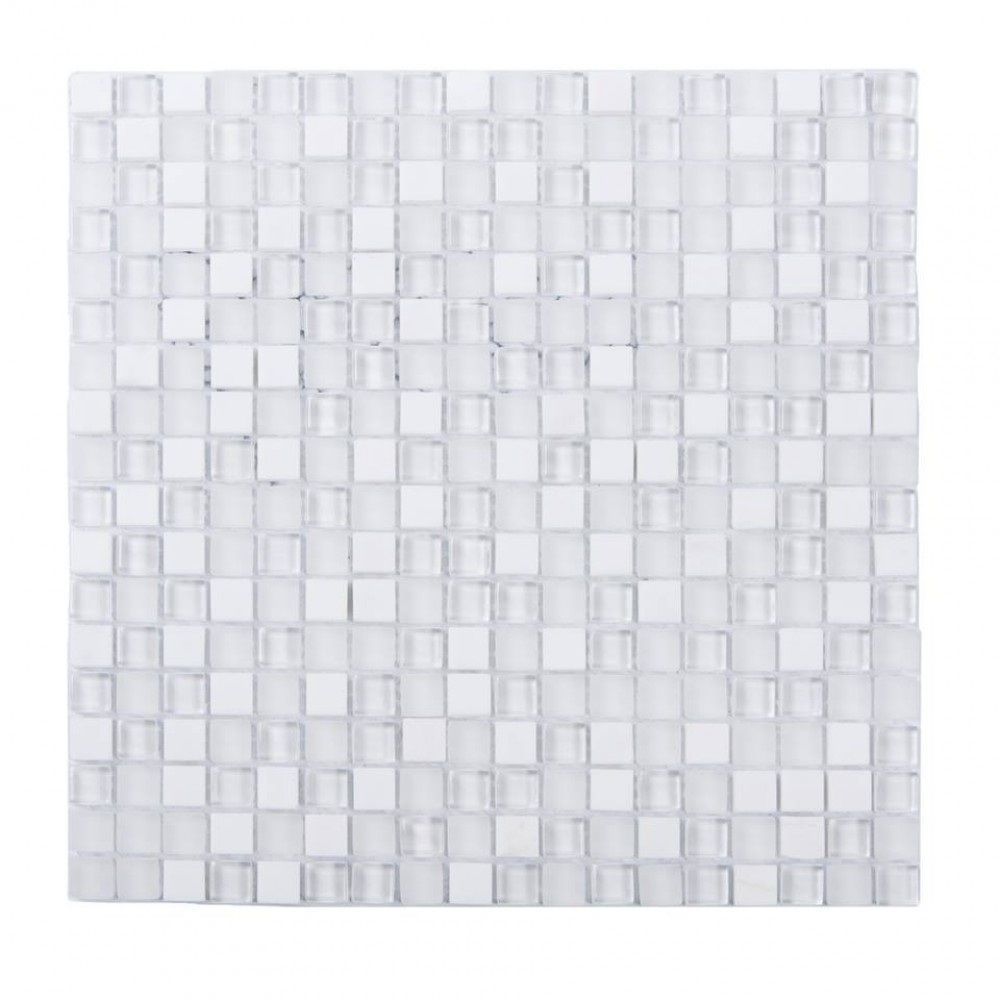 White Staccato 12x12 Blend