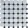 Arabescato Carrara Octagon Honed 2x2 Mosaic