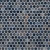 Azul Penny Round Glossy Porcelain Mosaic