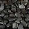 Black Polished 1-2 CM Beach Pebbles