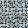 Black Blend 1x1 Glass Mosaic