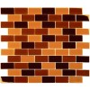 Brown Blend Brick 1X2X8MM