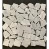 Carrara White 12X12 Interlocking Flat Pebble Tile