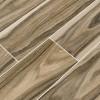 Dellano Deep Bark 8x48 Polished Wood Look Porcelain Tile