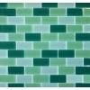 Brick Green Blend 1x2x8mm Crystallized