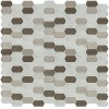 Inessa Blanco Picket Pattern 8mm Glass Wall Tile