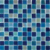 Iridescent Blue Blend 1x1 Crystallized Glass Tile