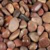 Red Polished 3-5 CM Beach Pebbles