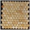 Yellow Onyx 1X1Hexagon Polished