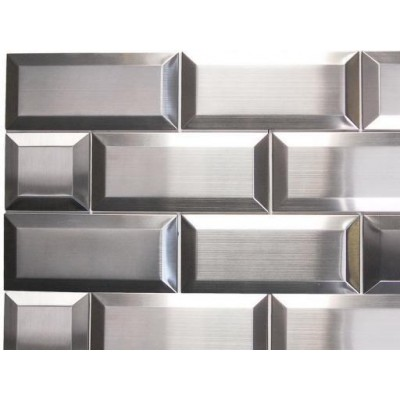 Odyssey 3x3 Subway Stainless Steel Mosaic
