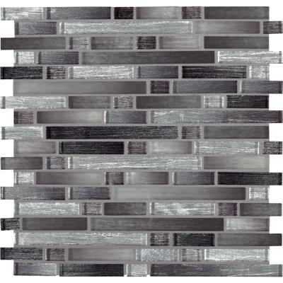 Akaya Nero Interlocking 8mm Glass Tile