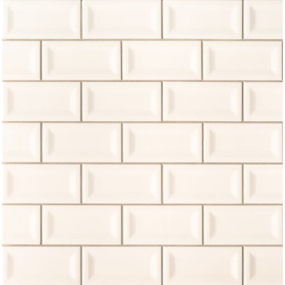 Almond 3X6 Beveled Glossy Subwway Tile