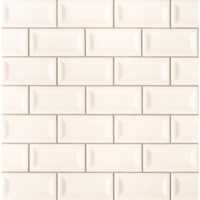 Almond 3X6 Beveled Glossy Subwway Tile