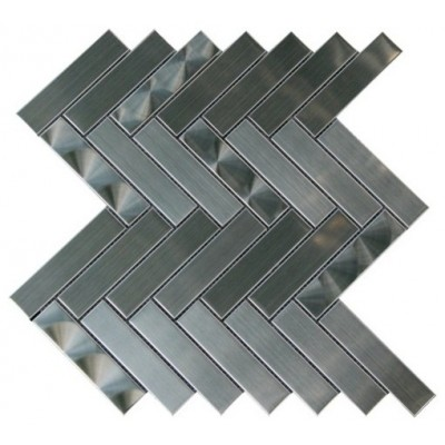 Arrowhead 1X4 3D Brushed Herringbone Mosaic