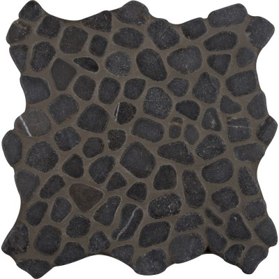 Black Pebbles 12X12 Tumbled