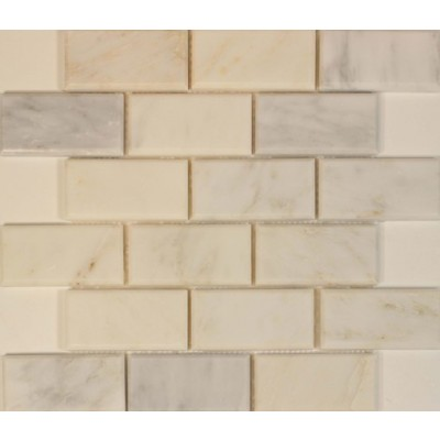 Oriental White 2x4 Polished & Bevel Mosaic