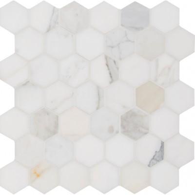 Calacata Gold 2x2 Hexagon Polished