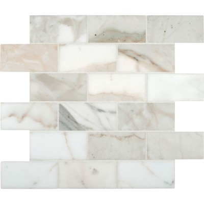 Calacatta Gold 2X4 Polished Marble Mosaic