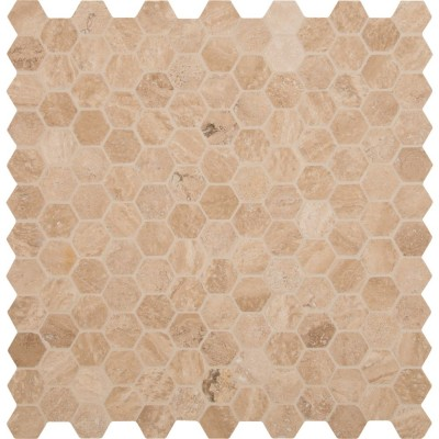 Carmello Hexagon 12X12 Honed and Filled