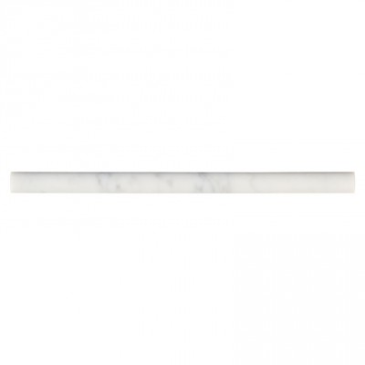 Arabescato Carrara Pencil Molding 3/4x12 Honed