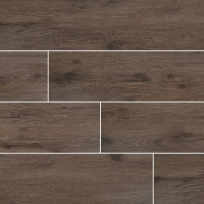 Celeste Nutmeg 8X40 Black Matte Wood Look Ceramic Tile