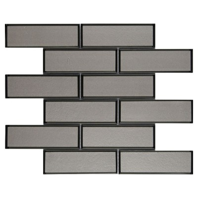 Champagne 2x6x8 Bevel Glass Subway Tile
