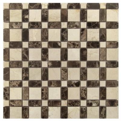 Checker Blend Emperador 12X12 Mosaic