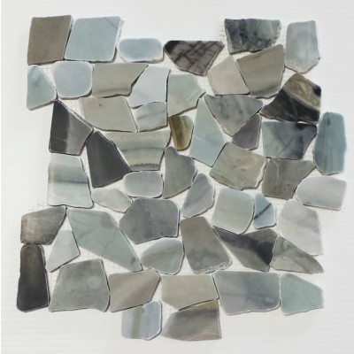 Cinderella 12X12 Interlocking Designer Flat Collection Pebble Tile