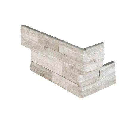Alaska Gray 6x18x6 3D Honed L Corner Ledger Panel