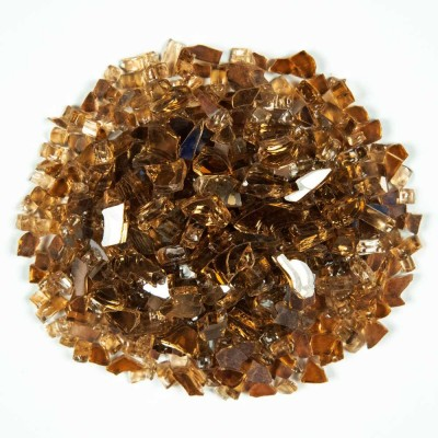 Copper Brown 1.27 CM 20 LBS Crystal Reflective Fireglass