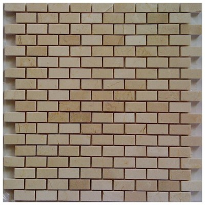 Crema Marfil Interlocking Mini Brick Polished