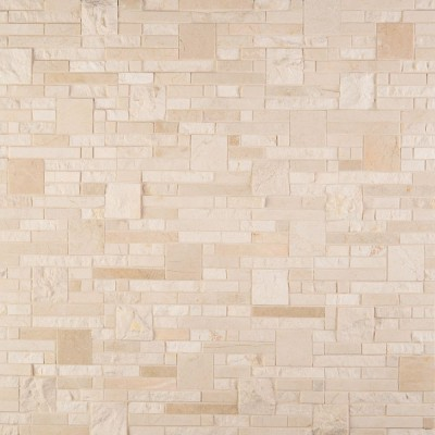 Crema Opus Polished and Splitface Pattern Mosaic